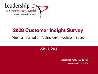 2008 Customer Insight Survey   Virginia Information Technology Investment Board