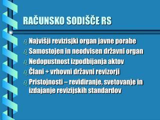 RACUNSKO SODI CE RS