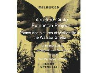 Literature Circle  Extension Project