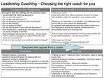 Leadership Coaching   Choosing the right coach for you