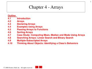 Chapter 4 - Arrays