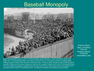 Baseball Monopoly