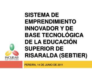 Sistema de Emprendimiento innovador y de Base Tecnol gica de la Educaci n Superior de Risaralda SEBTIER