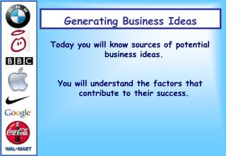 Generating Business Ideas
