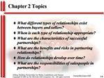 Chapter 2 Topics