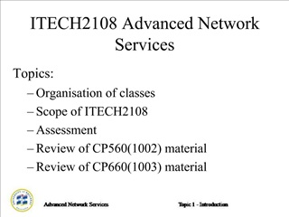 ITECH2108 Advanced Network Services