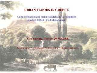 URBAN FLOODS IN GREECE  Current situation and major research and development needs in Urban Flood Management