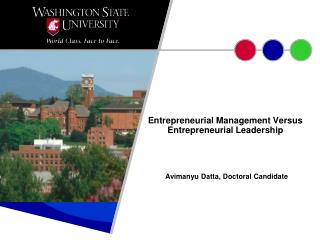 Entrepreneurial Management Versus Entrepreneurial Leadership