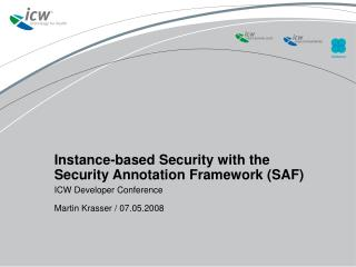 Instance-based Security with the Security Annotation Framework SAF