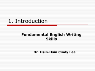 Introduction to Your               Course: A Tutorial for Instructors and  Teaching Assistants