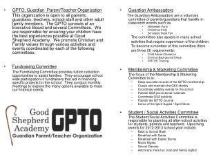 GPTO, Guardian  Parent