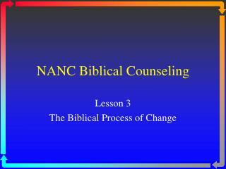 NANC Biblical Counseling