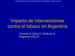 XXXI Congreso de la Sociedad Argentina de Cardiolog a ...