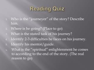 Reading Quiz