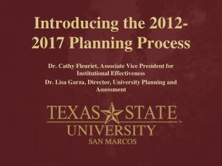 Introducing the 2012-2017 Planning Process