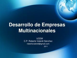 Desarrollo de Empresas Multinacionales