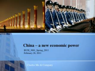 China   a new economic power