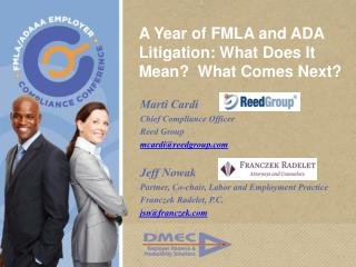 A Year of FMLA and ADA Litigation: What Does It Mean  What Comes Next