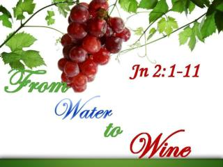 In this text, Jesus turns water to wine