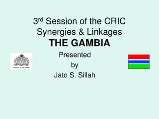 3rd Session of the CRIC