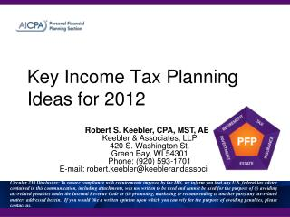 Key Income Tax Planning Ideas for 2012