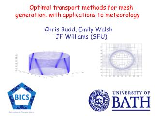 Optimal transport methods for mesh          generation, with applications to meteorology                      Chris Budd