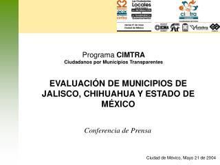 Programa CIMTRA Ciudadanos por Municipios Transparentes