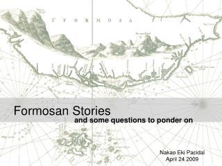 Formosan Stories