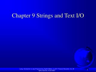 Chapter 9 Strings and Text I