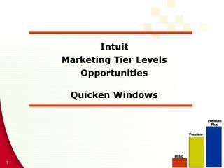 Intuit  Marketing Tier Levels  Opportunities  Quicken Windows