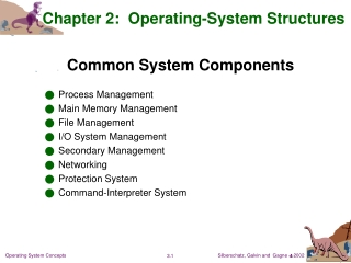 Chapter 2: Operating-System Structures
