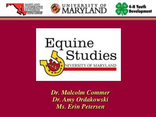 New Horse Programs at the University of Maryland