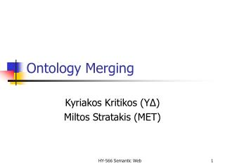 Ontology Merging