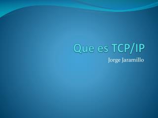 Que es TCP
