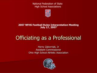 Officiating as a Professional