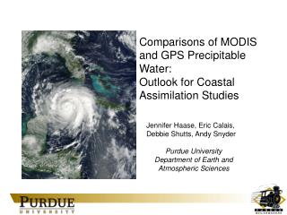 Comparisons of MODIS and GPS Precipitable Water:  Outlook for Coastal Assimilation Studies