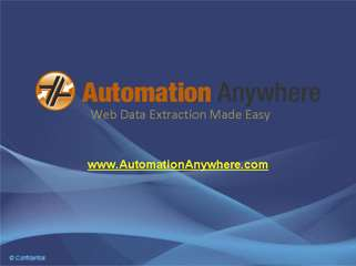 Web Data Extraction by Automation Anywhere