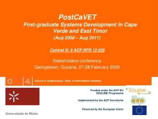 Post CaVet - Post graduate Systems development in Cape Verde ...