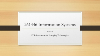 Week 7:  Enterprise Information Systems