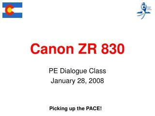 Canon ZR 830