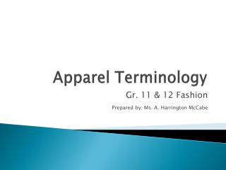 Apparel Terminology