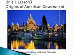 Unit 1 Lesson3 Origins of American Government