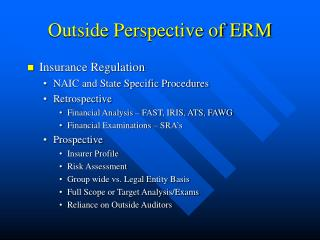 Outside Perspective of ERM