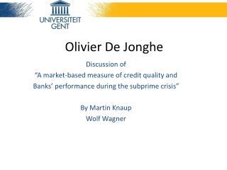Olivier De Jonghe