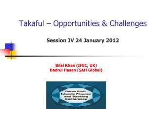 Takaful   Opportunities  Challenges  Session IV 24 January 2012