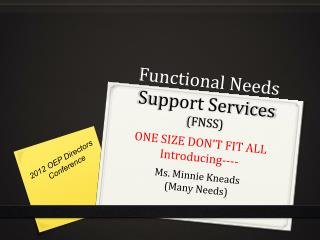 Functional Needs Support Services FNSS