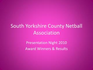 South Yorkshire County Netball Association
