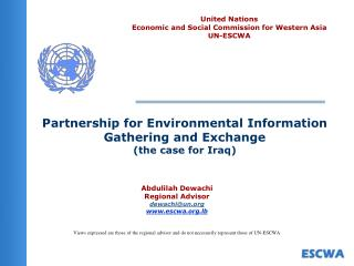 Partnership for Environmental Information Gathering and Exchange the case for Iraq