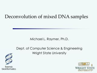 Deconvolution of mixed DNA samples