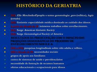 HIST RICO DA GERIATRIA
